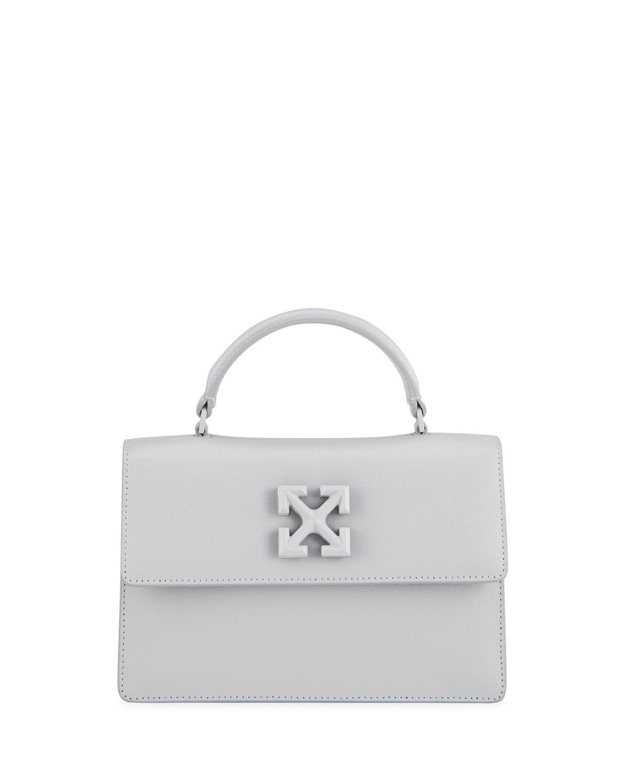 Off-White Handbags JITNEY 1.4 TONAL LEATHER TOP-HANDLE BAG, GREY