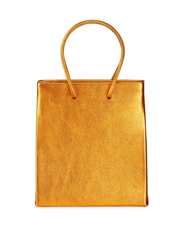 Prima Metallic Short Crossbody Tote Bag