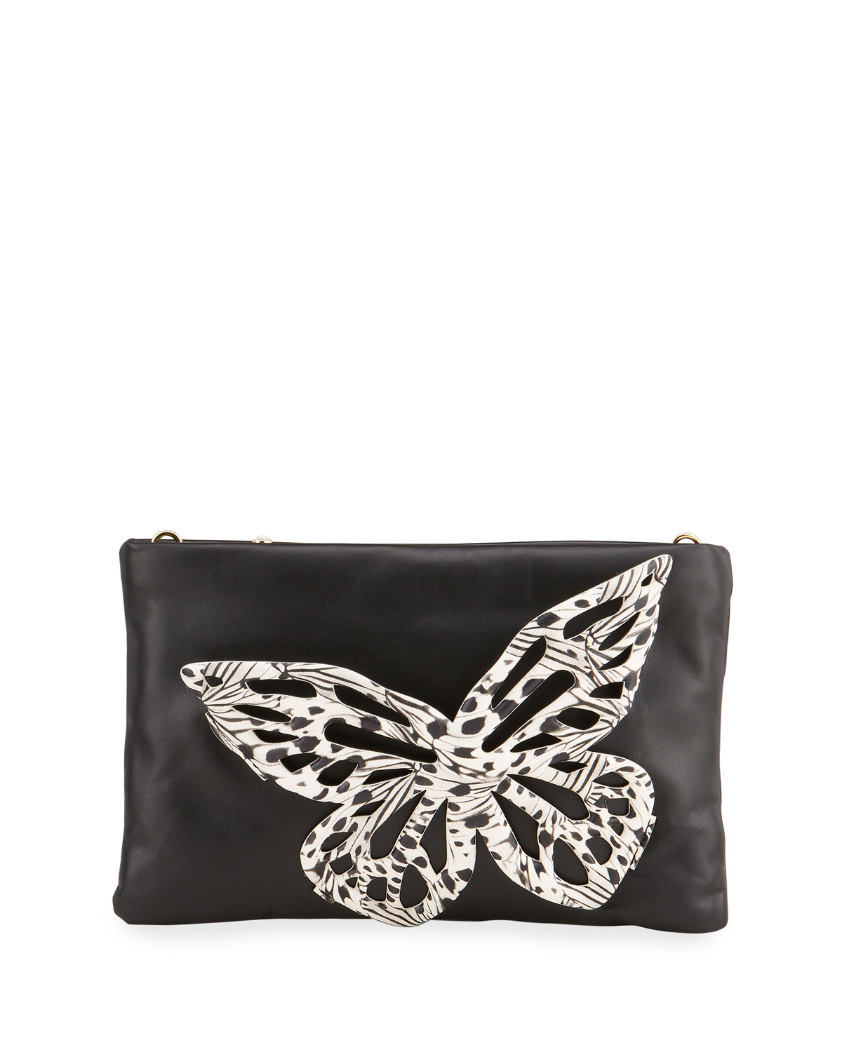 Sophia Webster Clutches FLOSSY BUTTERFLY LEATHER CLUTCH BAG