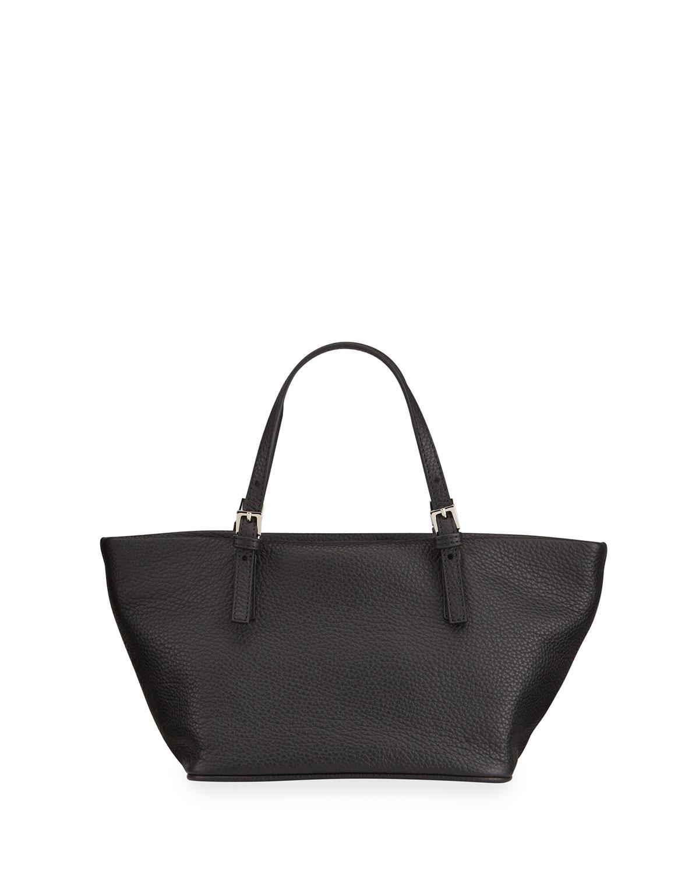Lulu Grain Leather Shopper Shoulder Bag
