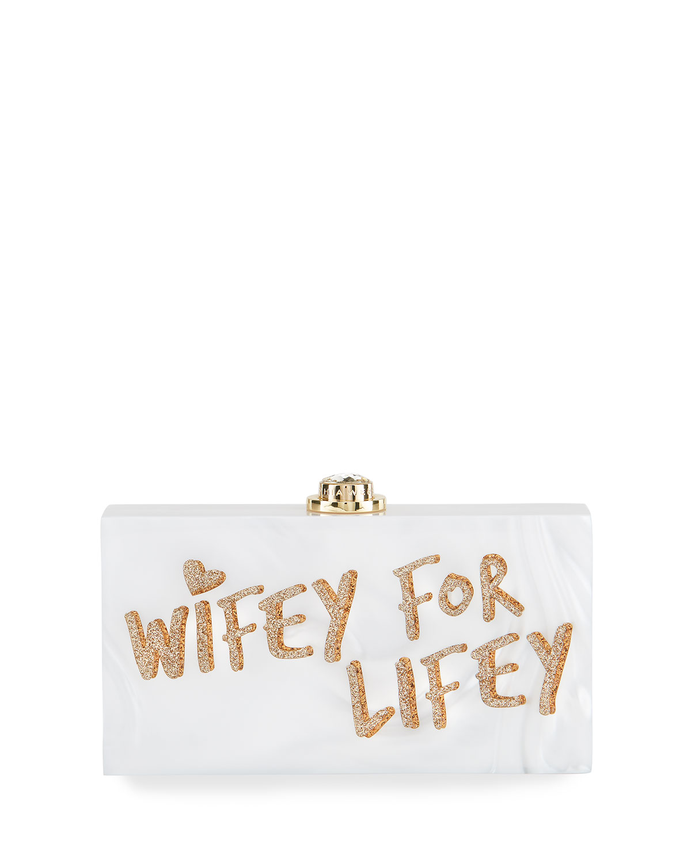 Sophia Webster Bags CLEO WIFEY FOR LIFEY CLUTCH BAG