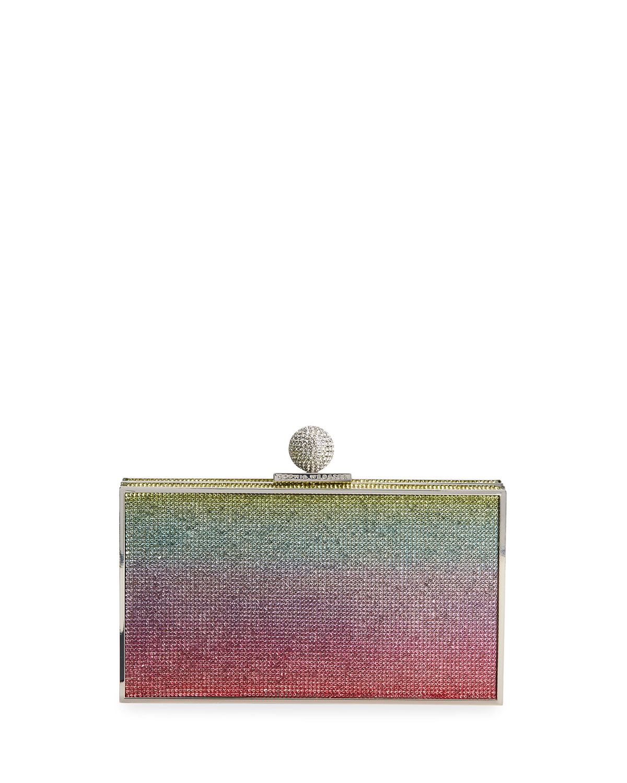 Sophia Webster Clutches CLARA RAINBOW CRYSTAL BOX CLUTCH BAG