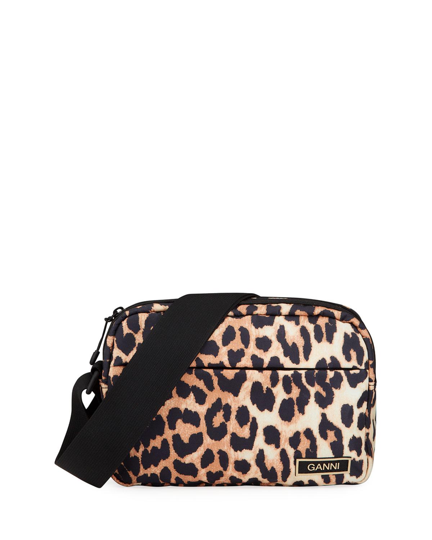 Cheetah-Print Recycled Fabric Crossbody Bag