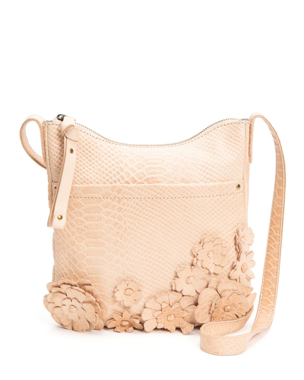 Melissa Floral Snake-Print Crossbody Bag