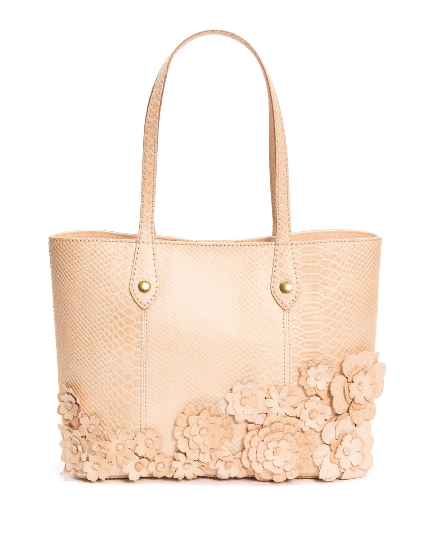 Melissa Floral Moc-Croc Tote Bag