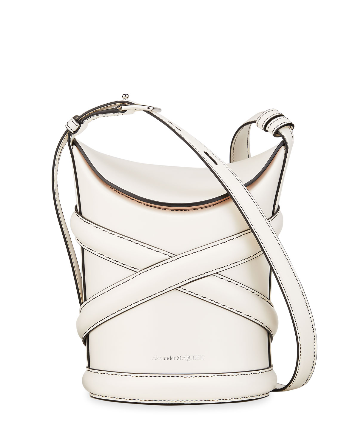 Alexander Mcqueen Leathers THE CURVE SMALL HOBO BUCKET BAG