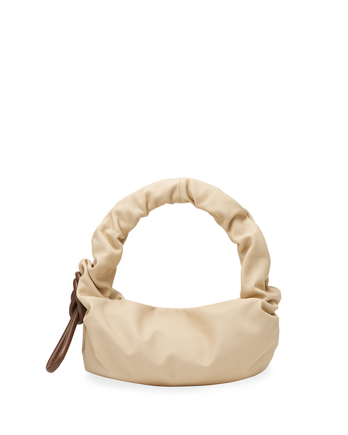 Lola Beads Ruched Top-Handle Bag