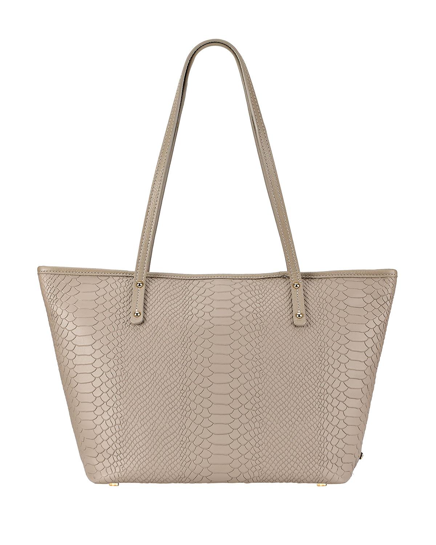 Taylor Python-Print Tote Bag