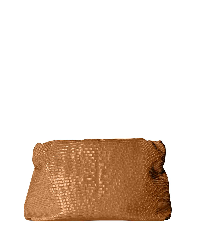 The Row BOURSE CLUTCH BAG IN LIZARD