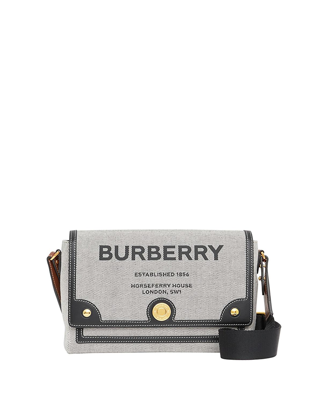 Burberry HORSEFERRY-PRINT LOGO CANVAS NOTE CROSSBODY BAG