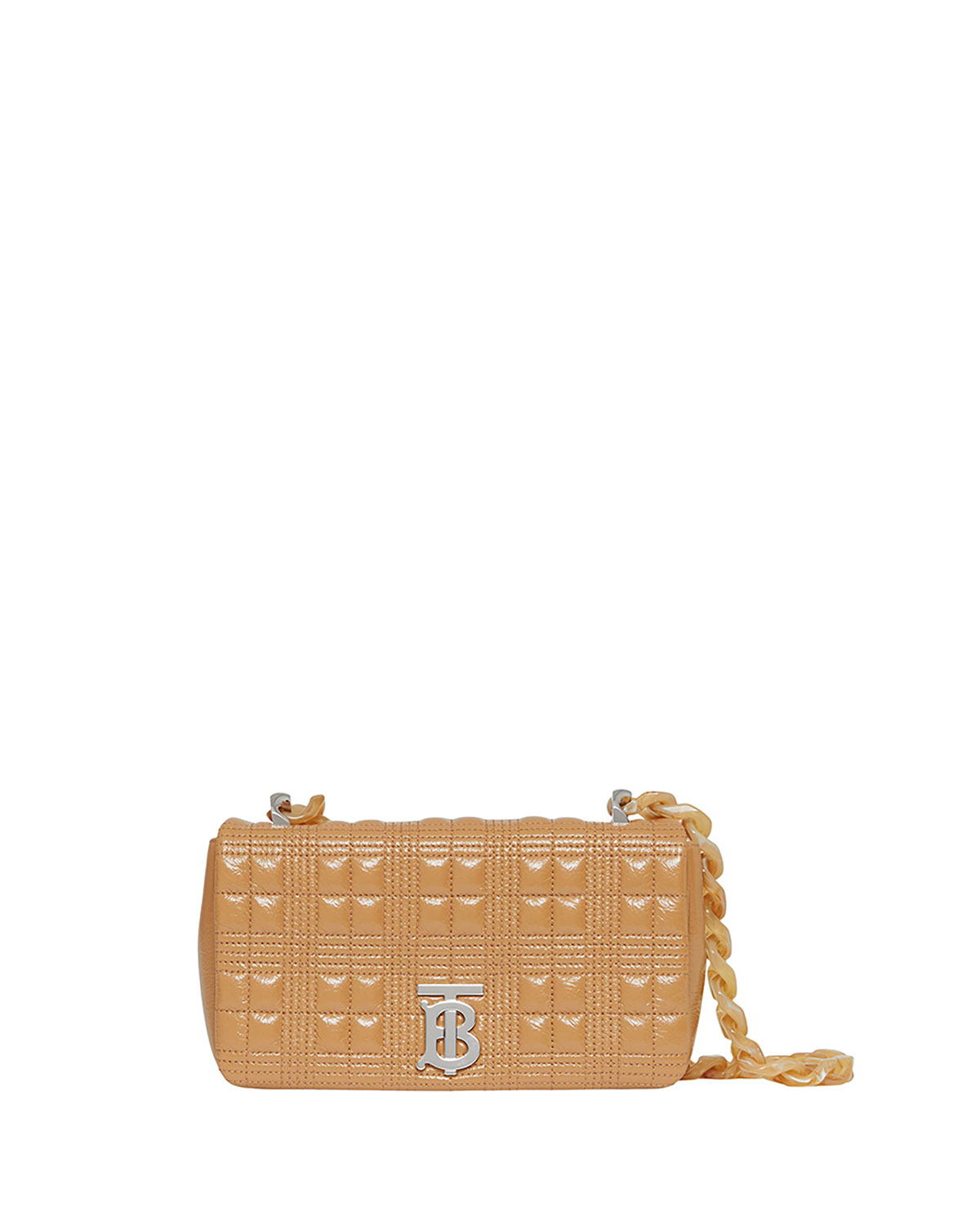 Burberry Bags LOLA SMALL QUILTED LAMBSKIN SHOULDER BAG, CAMEL