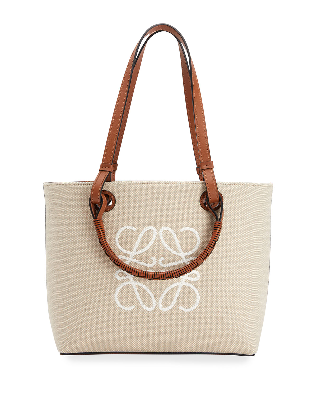 Loewe Leathers ANAGRAM SMALL CANVAS TOTE BAG