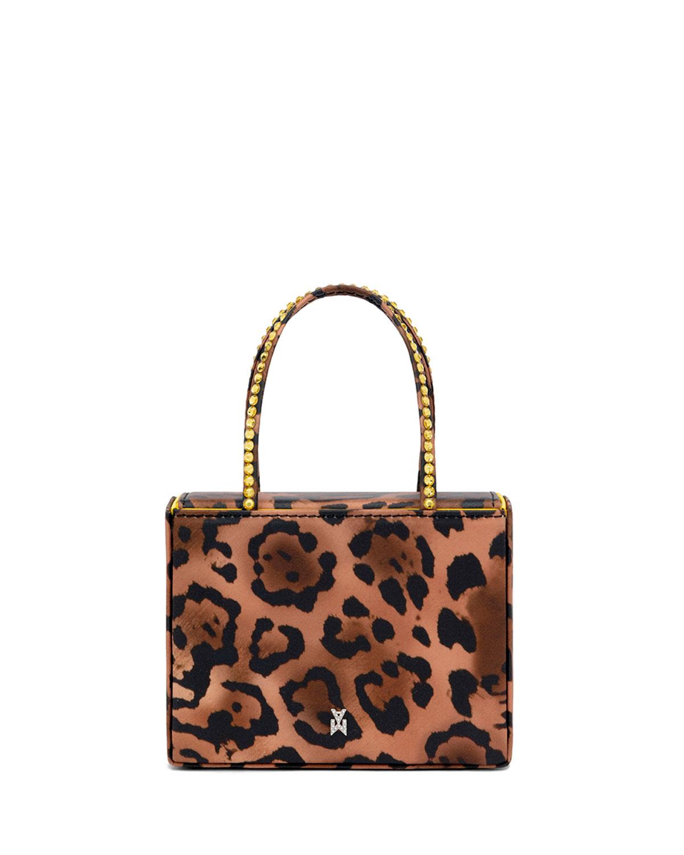 Super Amini Gilda Leopard-Print Top-Handle Bag