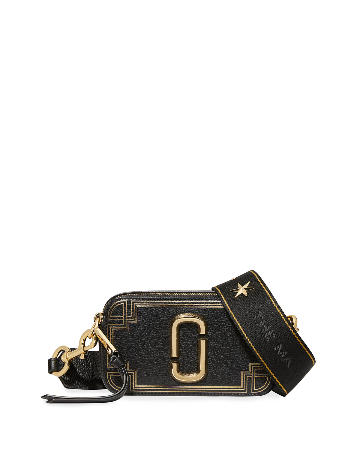 The Marc Jacobs THE SNAPSHOT GILDED LEATHER CAMERA CROSSBODY BAG