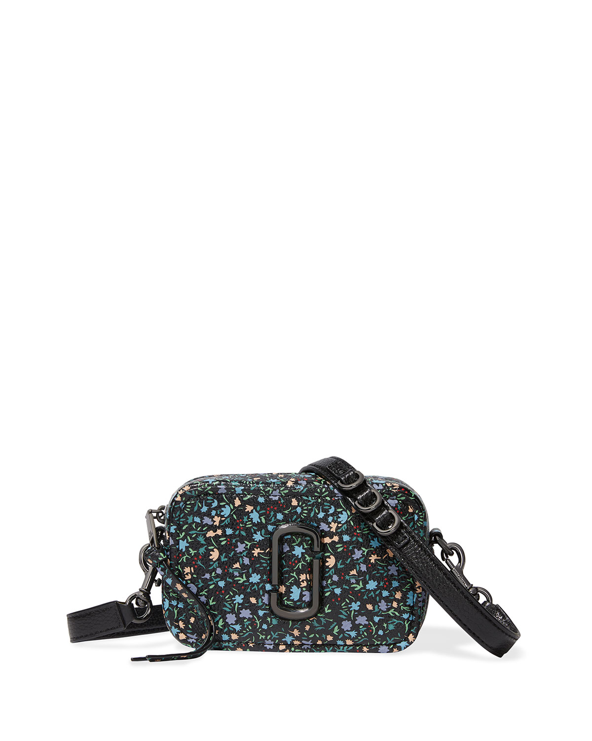 The Marc Jacobs THE SNAPSHOT 17 FLORAL-PRINT LEATHER CROSSBODY BAG