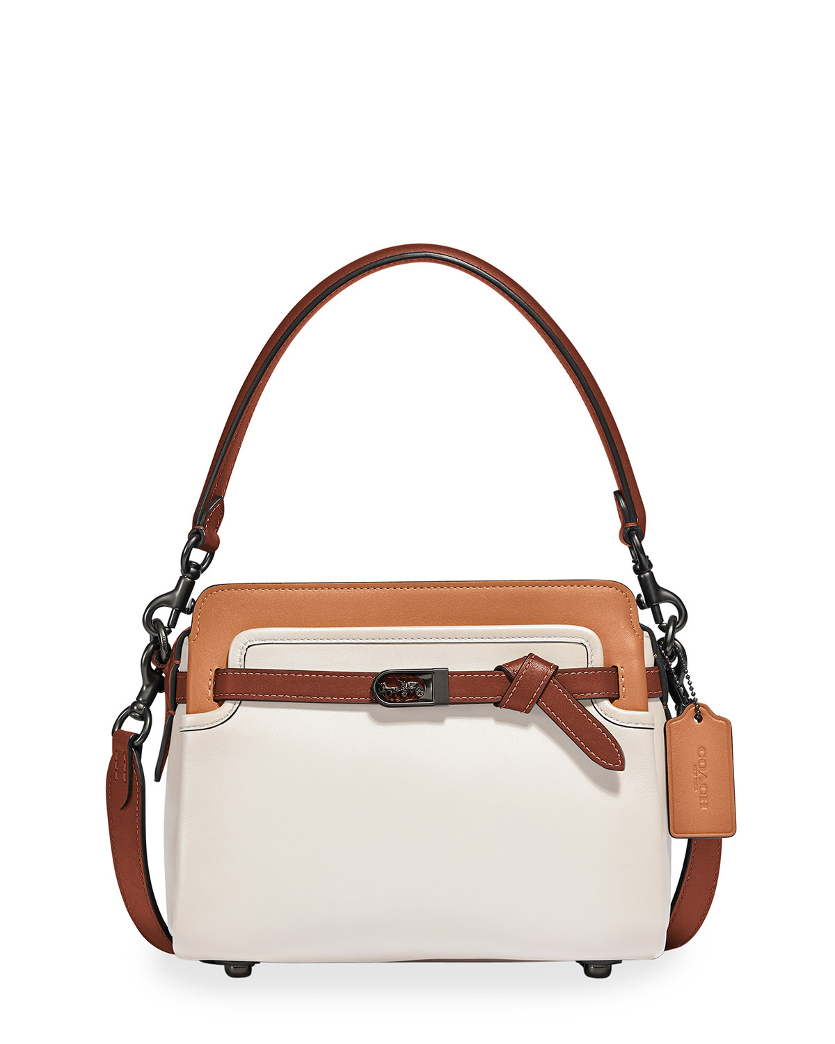 Coach Leathers TATE COLORBLOCK CARRYALL SATCHEL BAG