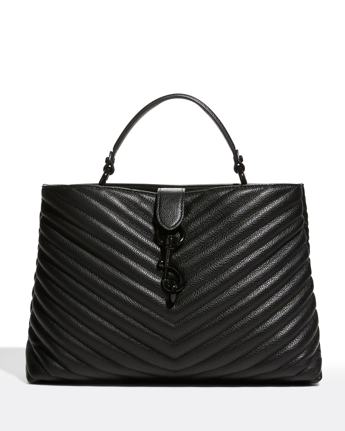 Rebecca Minkoff EDIE QUILTED LARGE TOP-HANDLE TOTE BAG