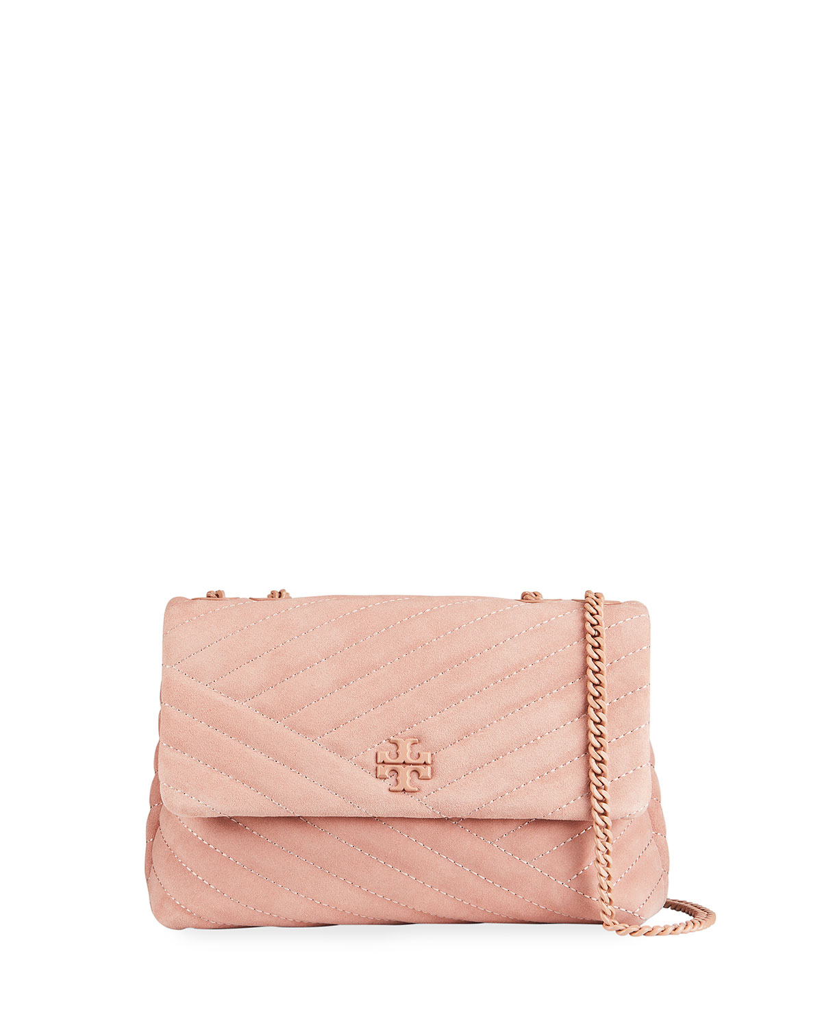 Tory Burch KIRA QUILTED SUEDE SHOULDER BAG
