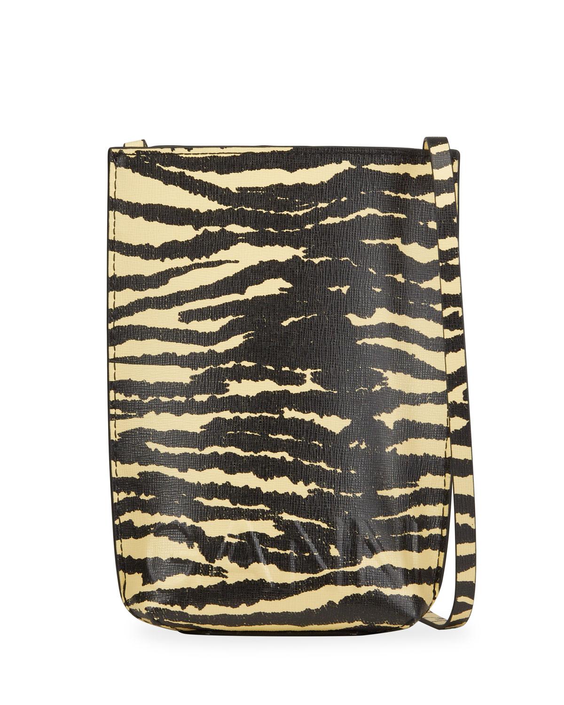 Tiger-Print Crossbody Bag
