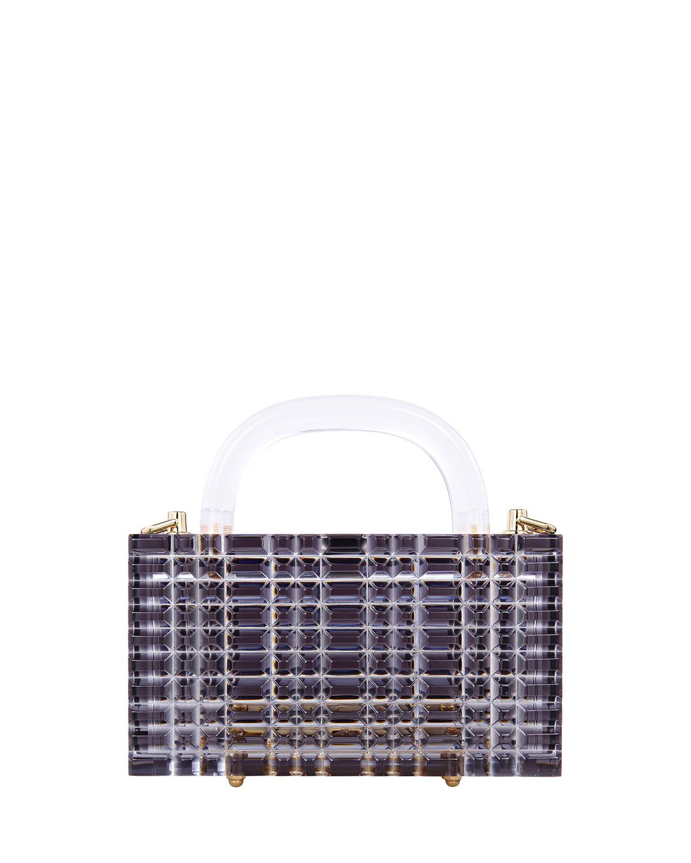 Sierra Textured Clear Acrylic Top-Handle Bag