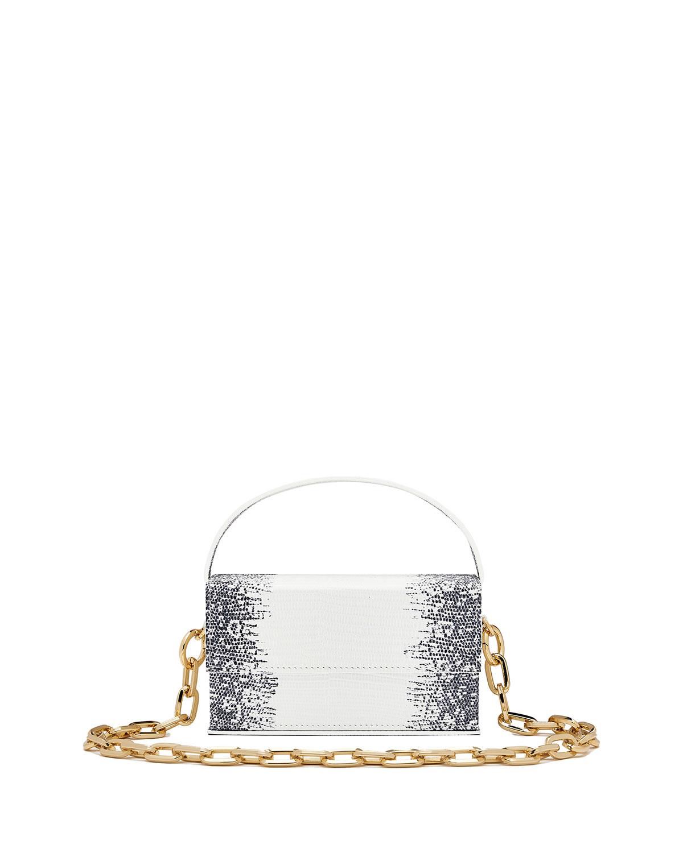 Ida Snake-Print Top-Handle Bag
