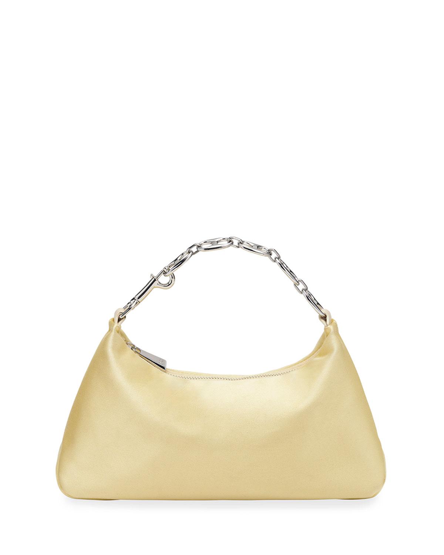 Misty Small Silk Chain Top-Handle Bag