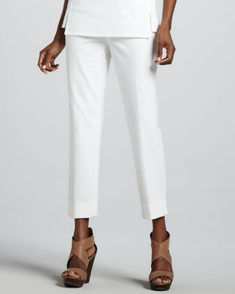 Bleecker Cropped Jodhpur Pants, White