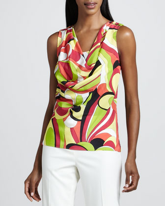 Jami Printed Silk Top