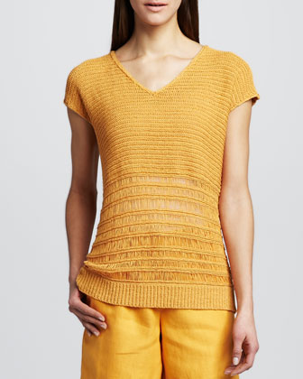 Amber Cap-Sleeve Sweater