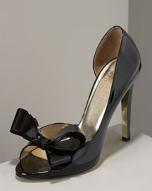 Valentino Bow Peep-Toe Pump -  Shoes -  Neiman Marcus