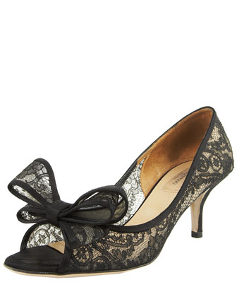 Couture Lace Bow Pump