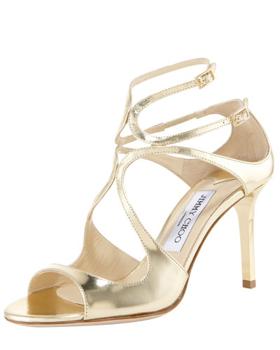 Ivette Mirrored Crisscross Sandal