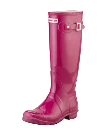 Original Tall Glossy Welly Boot, Violet