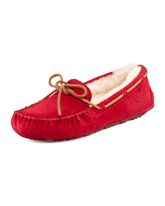 Dakota Shearling Tie-Slipper
