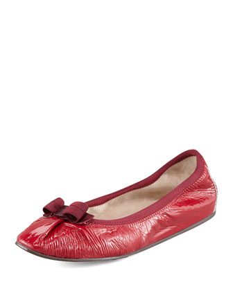My Joy Patent Leather Ballerina Flat