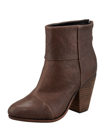 Classic Newbury Leather Bootie, Brown