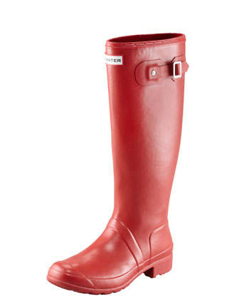 Original Tour Buckled Welly Boot, Red