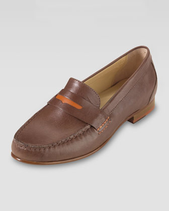 Monroe Penny Moccasin, Sequoia/Orange