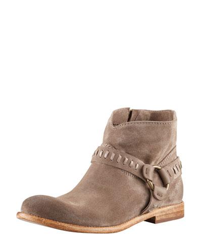 Sofia Suede Harness Boot, Sepia