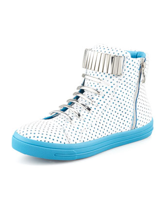 Kiefer Sneaker, White/Blue