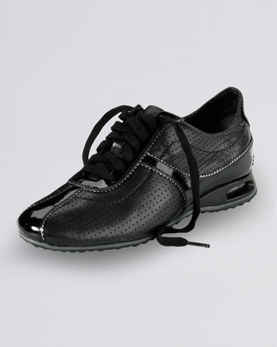 Air Bria Perforated Oxford Sneaker, Black