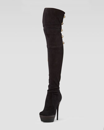 Dylan Stretch Suede Over-the-Knee Boot