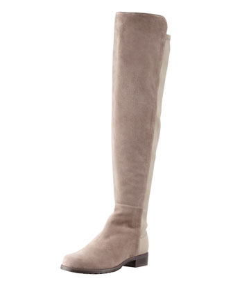 Suede To-the-Knee Boot, Topo