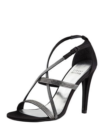 Surreal Crisscross Crystal Evening Sandal