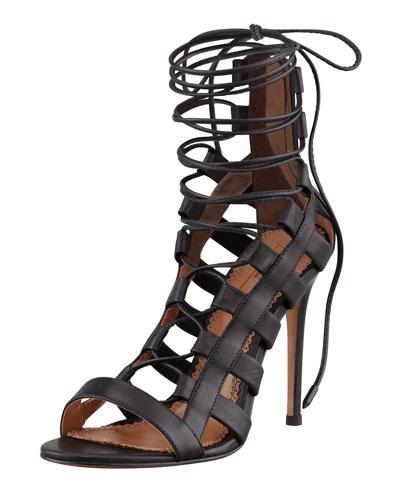 Amazon Lace-Up Ankle-Wrap Sandal