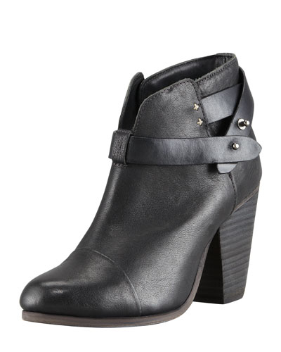 Harrow Leather Ankle Boots, Black