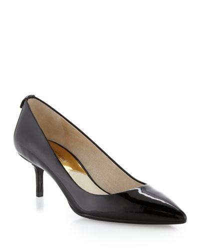 Flex Patent Kitten-Heel Pumps