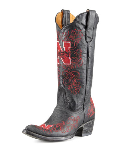 University of Nebraska Tall Gameday Boots, Black