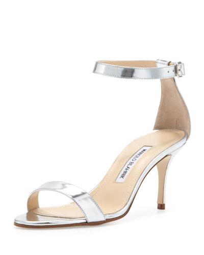 Chaos Ankle-Strap Sandal, Silver