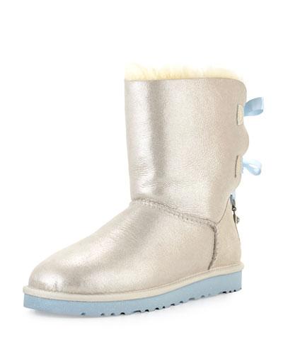 I Do! Bailey Bling-Bow Boot, White